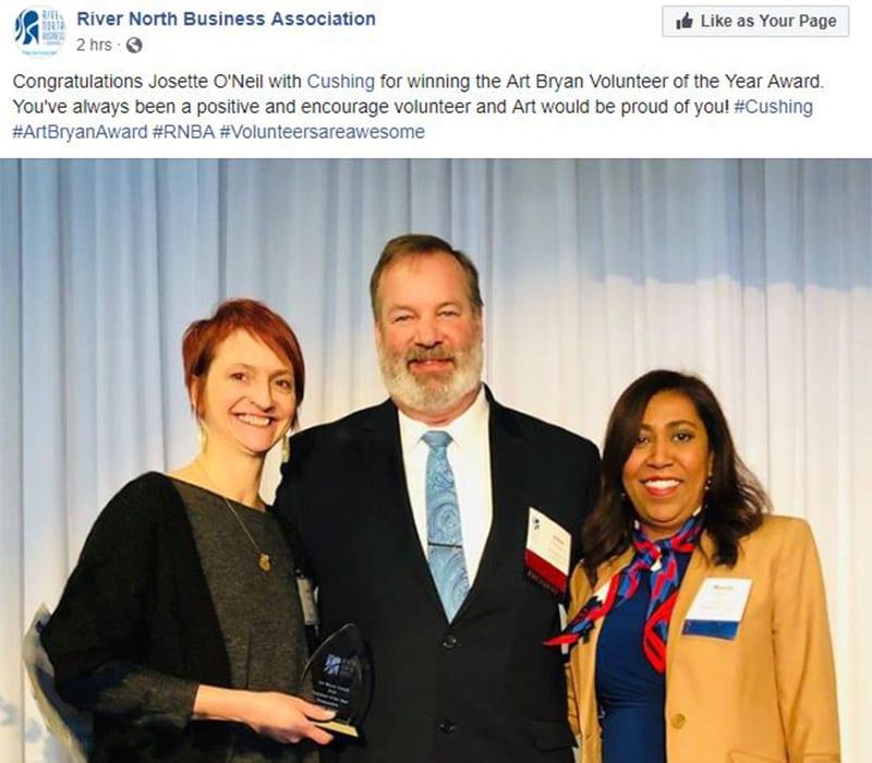 Winter 2019 Social Media Roundup 3 Josette RNBA Award Facebook Post
