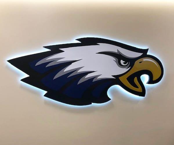 Backlit Lighted Signage at Leyden High School