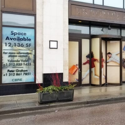 Space Available Window Graphics CBRE
