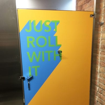 Just Roll With It (Get it?) Stall Graphics Printed to 3M IJ180C