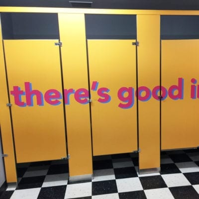 Stall Graphics With There's Good Inside Messaging