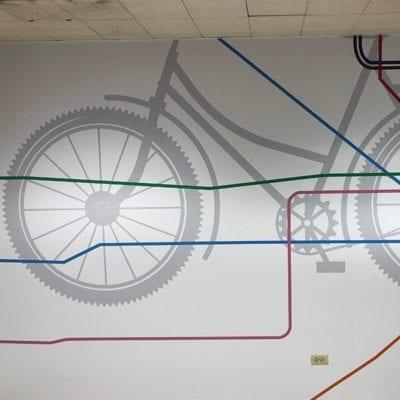 Bike CTA Wall Graphic