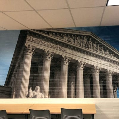 Wall Graphics in High School Conference Room