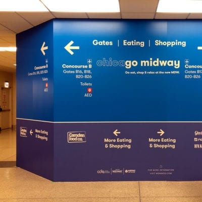 Colorful Construction Graphics at Midway Airport