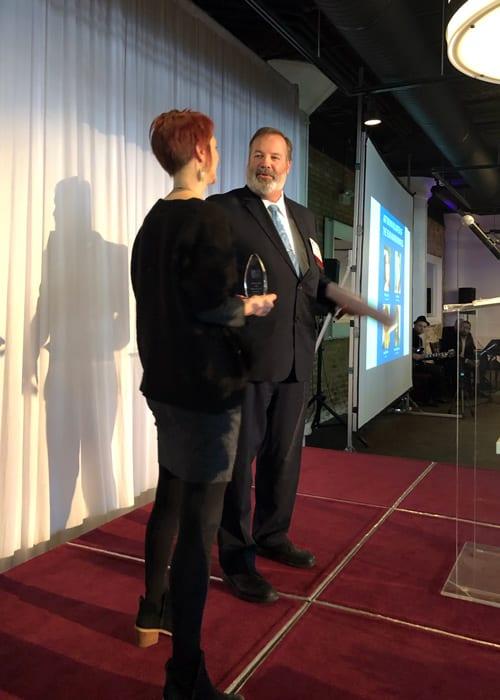 Cushing Account Manager Wins Art Bryan Award 3 Josette and John Before Speech