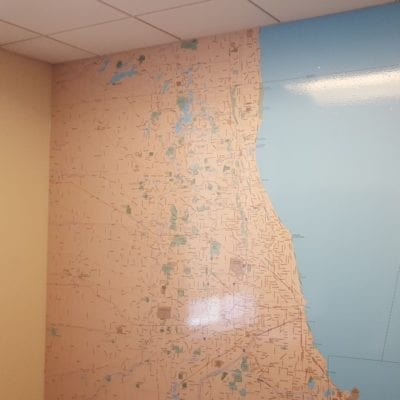 Wall Graphic Installed in Healthcare Facility