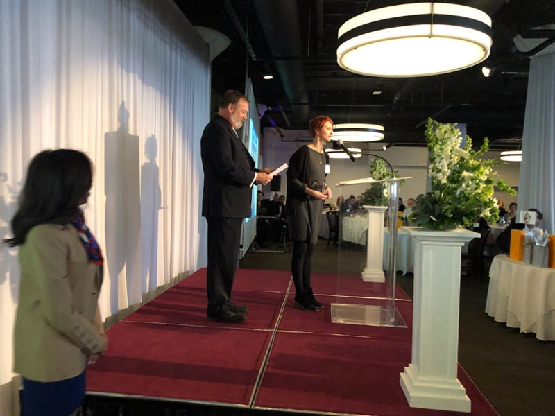 Cushing Account Manager Wins Art Bryan Award 4 Podium Speech