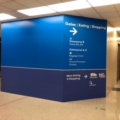 Temporary Directional Graphics at Midway Airport
