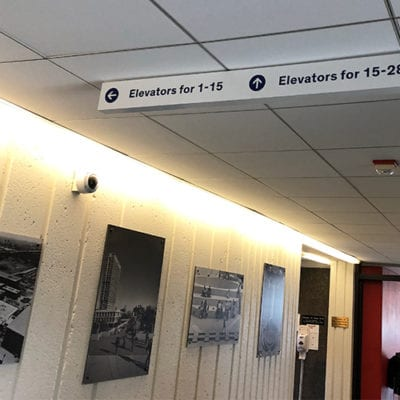 UIC Meccor Industries Directional Signage