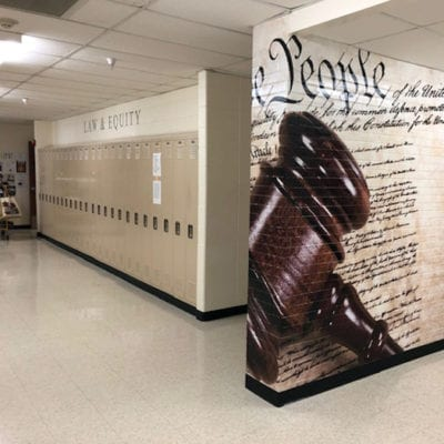 Vinyl Cut Lettering and School Wall Graphics
