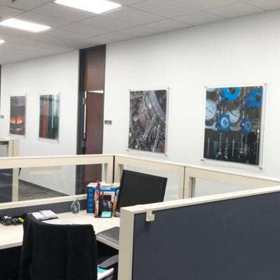 Acrylic Printed and Installed With Standoffs at the GTI Offices