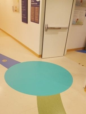Floor Graphic's at Lurie's Children's Hospital