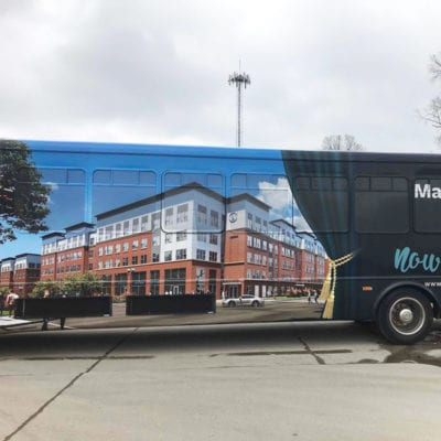 Large Vehicle Wrap for Campus Acquistions