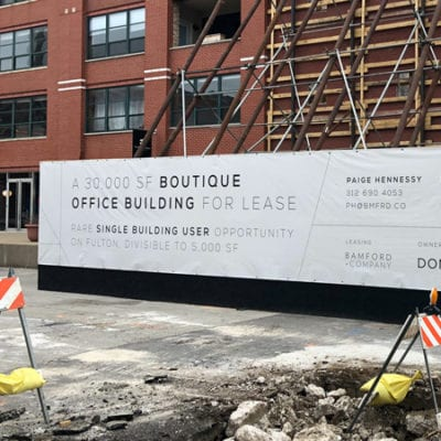 Banners Provide Messaging During Construction