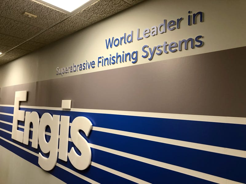 Dimensional Signage Installed at Engis