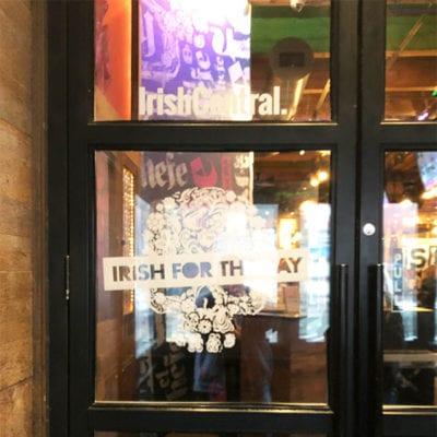 El Hefe Irish for the Day Window Graphics