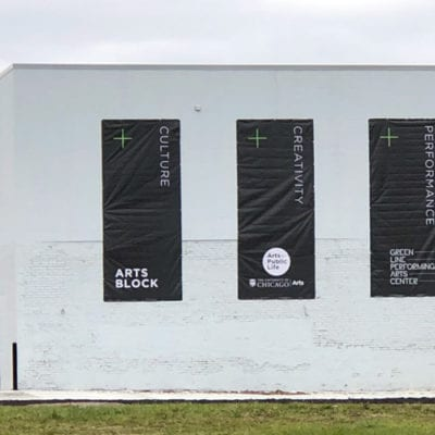 Banners Installed to Building Exterior