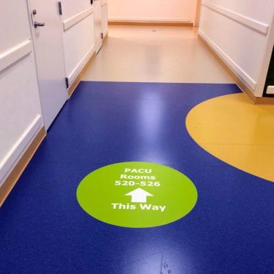 Floor Wayfinding Keeps Guests Moving Forward