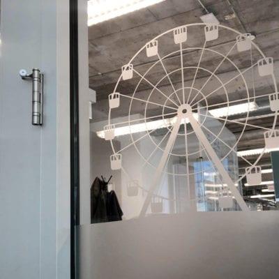 Frosted Window Film of Navy Pier Ferris Wheel at Pareto Intelligence