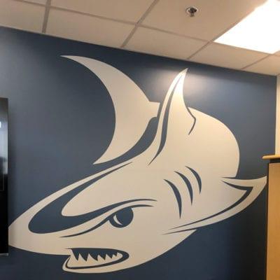 Shark Wall Graphics at Magid Glove