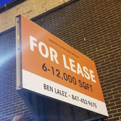 North Clybourn Group For Lease Sign