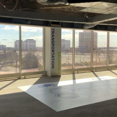 Pillar and Floor Graphics in Available Space