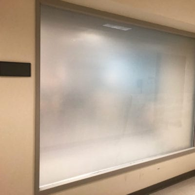 Office Privacy Created with 3M Dusted Crystal