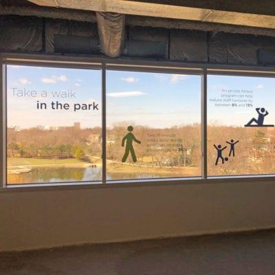 Window Graphics Communicate Neighborhood Amenities