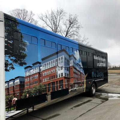Fleet Bus Wrap for Residential Services