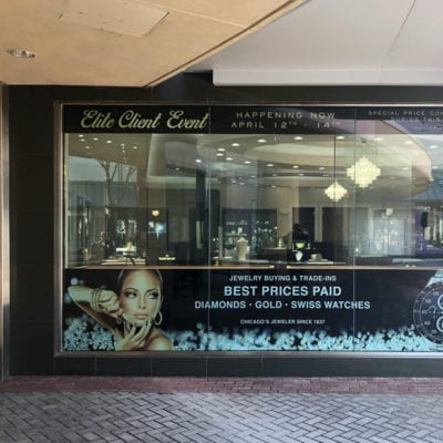 Large Window Clings Printed and Installed for C.D. Peacock