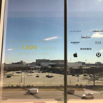 Vinyl Cut Graphics on Window in Marketing Center