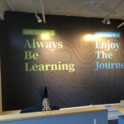 Wall Graphics of Core Values at Wyzant