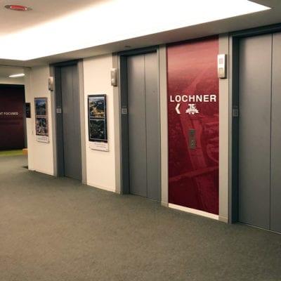 Elevator Bank Graphics Installed at Lochner