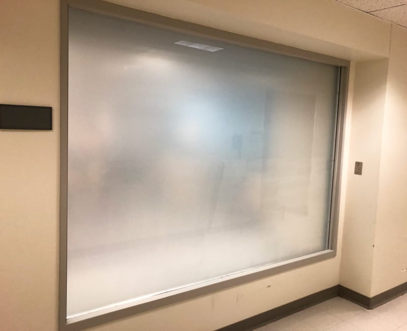 Privacy Vinyl Installed with 3M Dusted Crystal