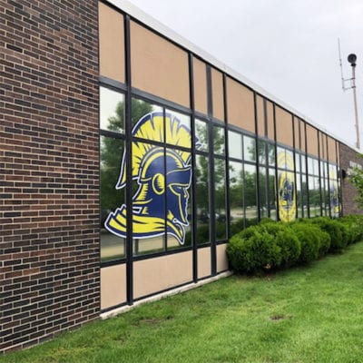 Window Signage Installed at Robert Frost Jr High School