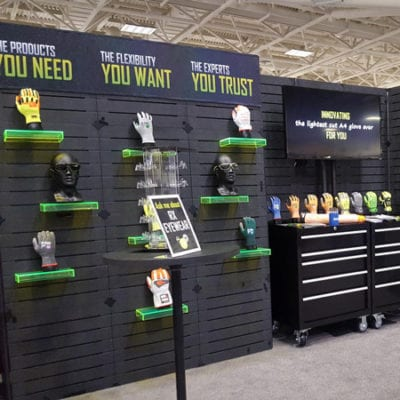 Dye Sub Graphics With Velcro at a Recent Trade Show
