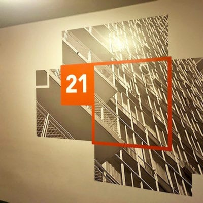 Wayfinding to Identify Residence Floor.