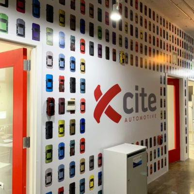Wall Graphics with Die Cut Cars