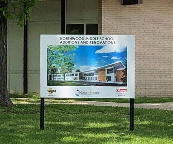 Construction Advertisement Signage for Gilbane