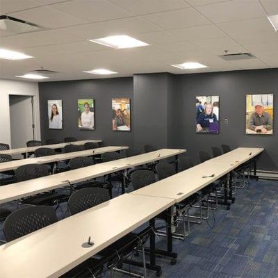 Ladder Up Prints in Conference Room