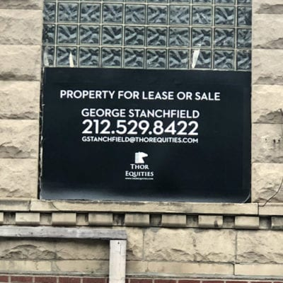 Thor Equities Leasing Sign