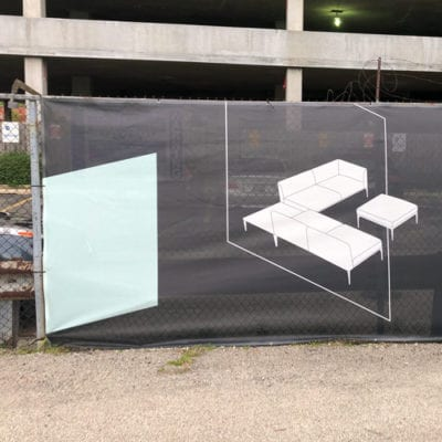 West Elm and Steelcase Fence Banner