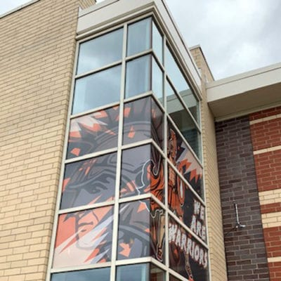 Second View of McHenry High School Window Signage