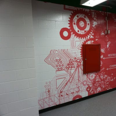 Directional Wall Graphics Installed to Concrete at UIC
