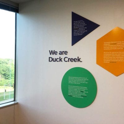 Duck Creek Dimensional Lettering