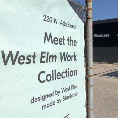 Exterior Banner Steelcase West Elm