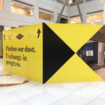 Pardon Our Dust Graphics to Communicate Renovation