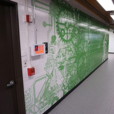 Detailed Wall Graphic Printed and Installed at Cushing