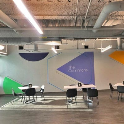 The Commons Wall Graphics at Duck Creek Technologies