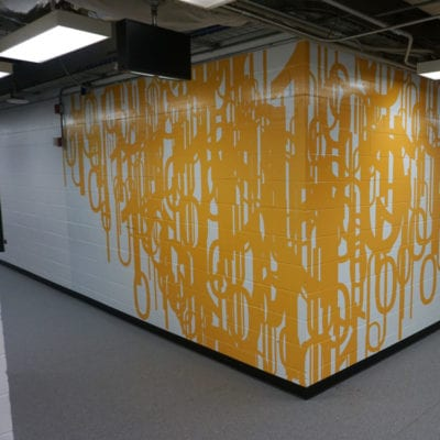 Vinyl Installed to Concrete Wall at UIC